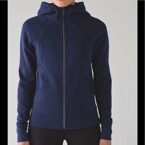 Lululemon scuba hoodie IV hero blue 8 Cotton flece